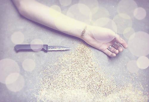 Bokeh Texture Bleeding Glitter