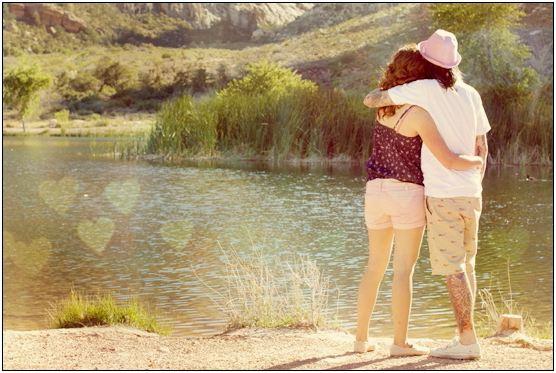Bokeh Couple by Pond