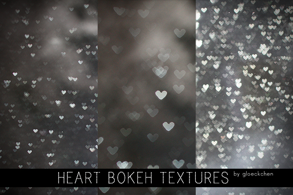 Heart-shaped Bokeh Texture Pack
