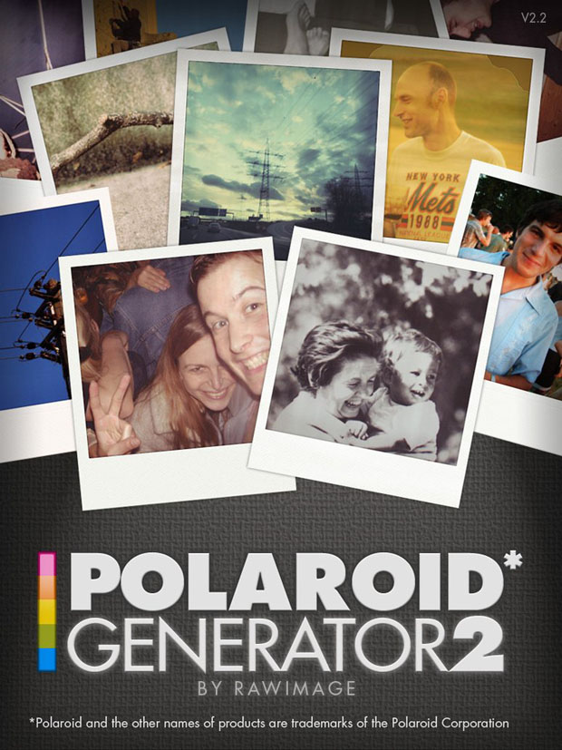 Polaroid Generator Action version 2.