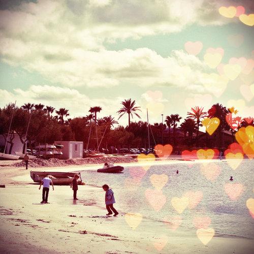 Bokeh Texture Beach