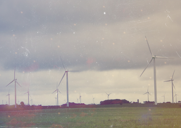 Dreamy Vintage Wind farm