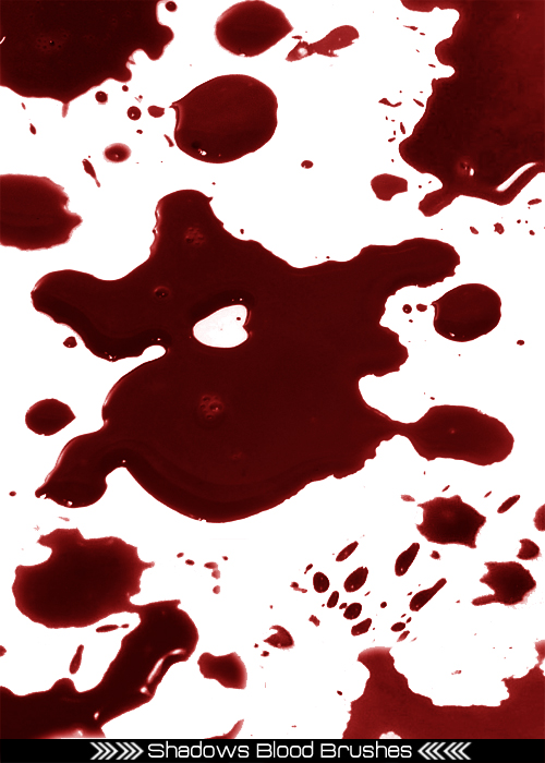Photoshop Blood Splatter Tutorials and Blood Brushes - Photoshopgirl.