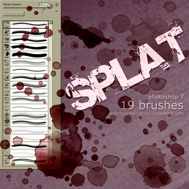 Splat Brushes for Photoshop