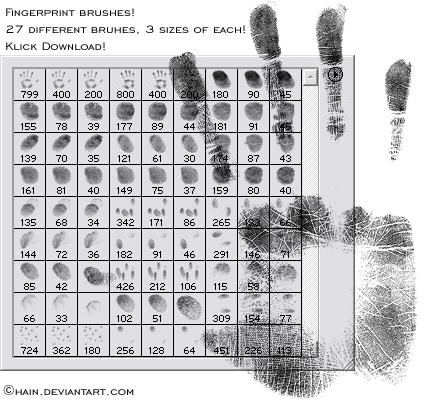 Bloody Fingerprint Brushes