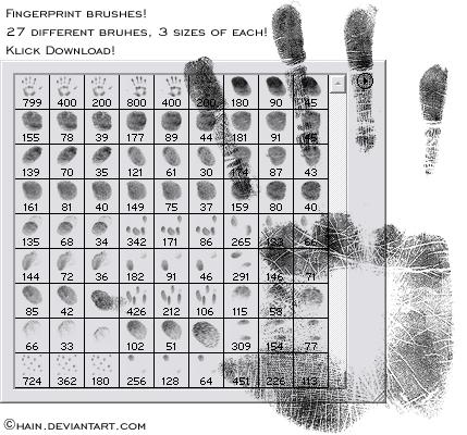 Bloody Fingerprint Brushes