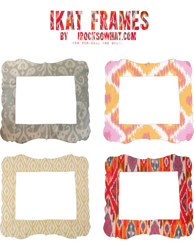 Ikat Photo Frames