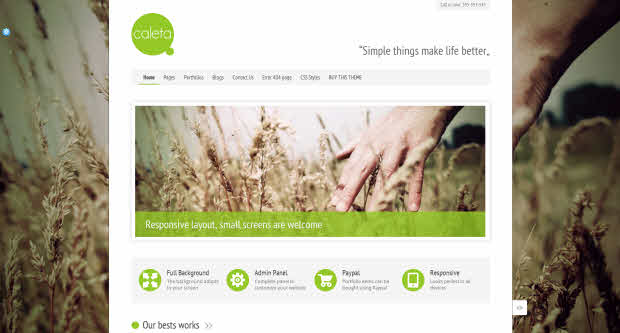 Caleta WordPress Theme