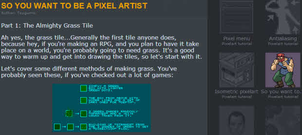 So You Want To Be A PixelArtist